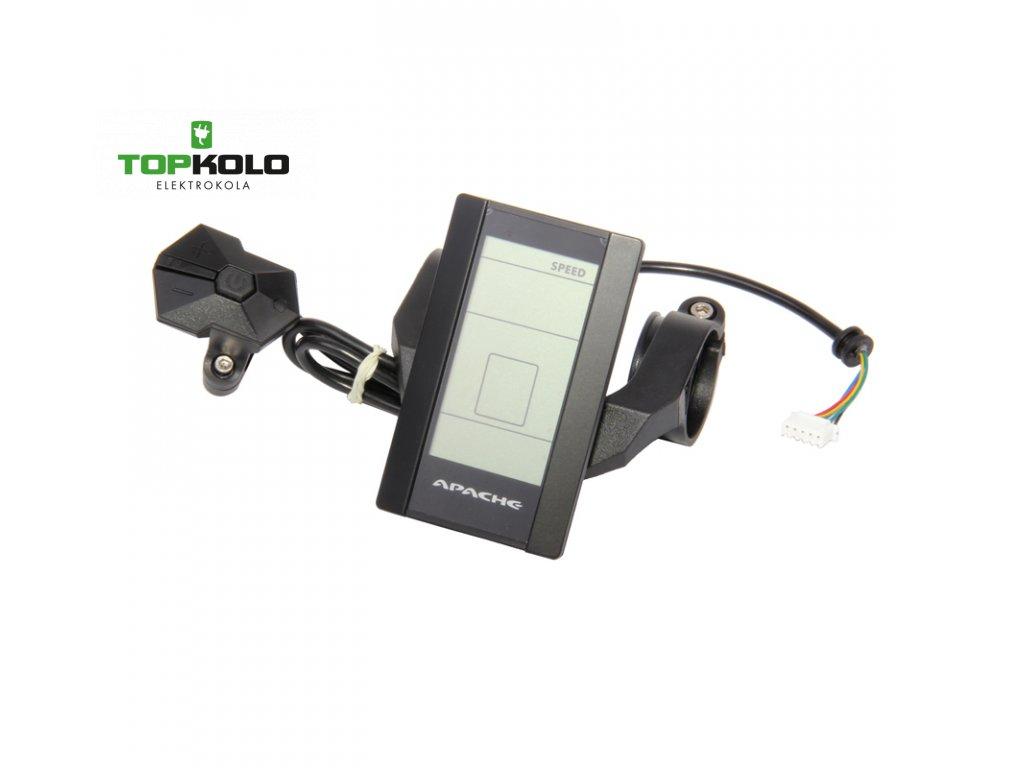 Displej LCD Apache Power od r. 2014 s konektorem do slučovacího boxu